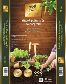 Sunin Ültető, palánta és zöldségföld 50 liter - (Nagy tételben)