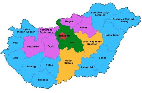 Magyarország megyetérképe