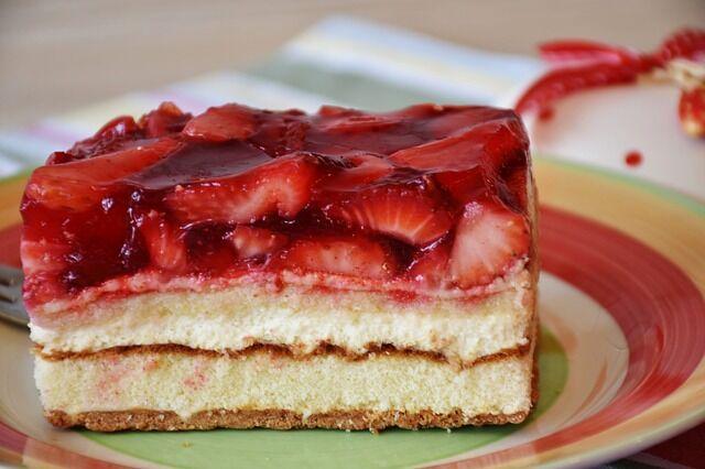 Szamócás sütemény
