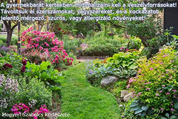 gyermekbarát kertek Megyeri kertészet