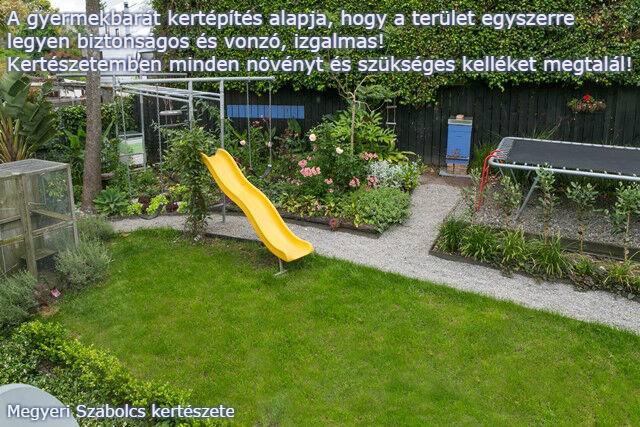 gyermekbarát kert kertépítés Megyeri kertészet