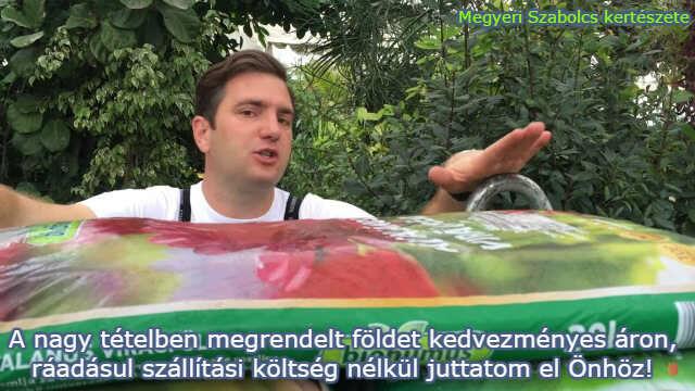 Nagy tételben kedvezményesen vásárolhat virágföldet Megyeri Szabolcs kertészetében