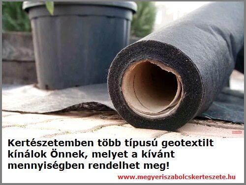 Geotextil kiszállítás a Megyeri kertészetből!