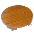 Lakkozott keményfa virágalátét - FLORA ROLL LASURÉ (világosbarna)
