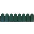 Klasszikus stílusú műanyag ágyásszegély - SIERRA BORDER (zöld)