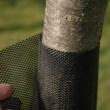 Facsemetevédő rács, kötegenként címkézett - TREEX (Flexguard D6) (fekete)