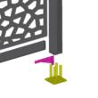 Rögzítő alap - BASFIX FLOOR (szürke)