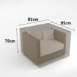Vízálló bútortakaró szövet 90 g/m2 - COVERTOP (fotel)(drapp)