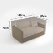 Vízálló bútortakaró szövet 90 g/m2 - COVERTOP (kanapé 2 fős) (drapp)