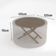 Vízálló bútortakaró szövet 90 g/m2 - COVERTOP (kerek asztal)(drapp)