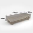 Vízálló bútortakaró szövet 90 g/m2 - COVERTOP (nyugágy)(drapp)