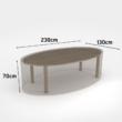 Vízálló bútortakaró szövet 90 g/m2 - COVERTOP (ovális asztal)(drapp)