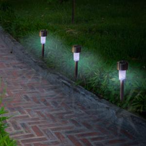 Leszúrható napelemes lámpa - ASTRA (ezüst)