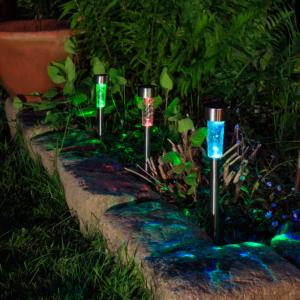 Leszúrható napelemes lámpa - ATUSA (ezüst)