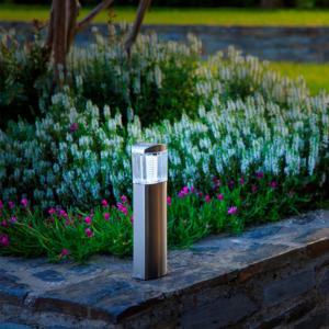 Leszúrható napelemes lámpa - BORNEO (ezüst)