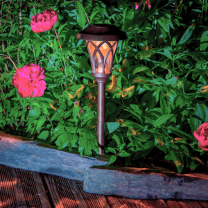Leszúrható napelemes lámpa - EDEN (barna)