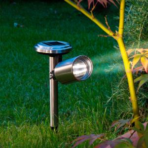 Spot napelemes lámpa - SCOOP (ezüst)