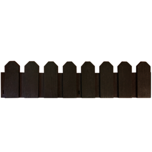 Klasszikus stílusú műanyag ágyásszegély - SIERRA BORDER (barna)