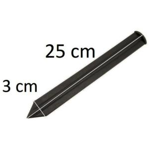 Leszúró tüske Border ágyásszegélyekhez - FIXING PEG (fekete)