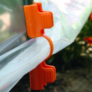 Klipsz fólia rögzítéséhez - CLIPS TUTEURS (narancssárga)