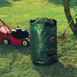 Erős, merev lombgyűjtő zsák – STANDBAG – 150 L (zöld)