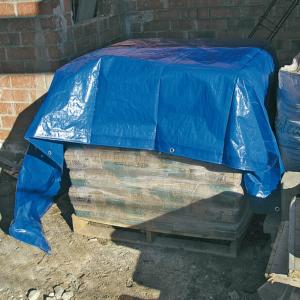Erősített, vízhatlan takaróponyva 120 g/m2 LDPE - PROTEX (kék)