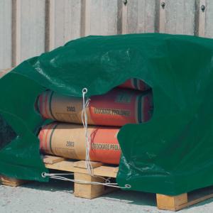 Erősített, vízhatlan takaróponyva 80 g/m2 - PROTEX (zöld)
