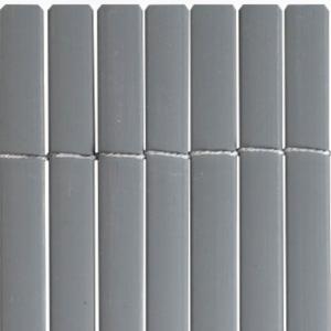 Félovális profilú műanyag nád 13mm PVC - PLASTICANE OVAL (szürke)