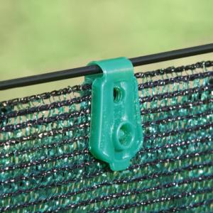 Rögzítő kapocs szőtt árnyékoló hálóhoz  - FIXATEX (zöld)