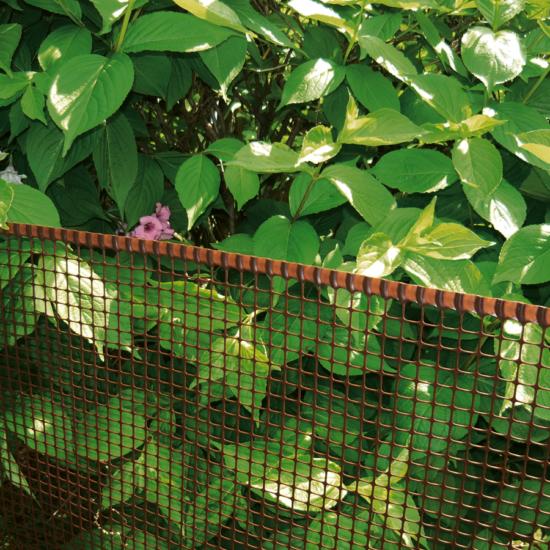Műanyag kertirács - SQUARE (barna)