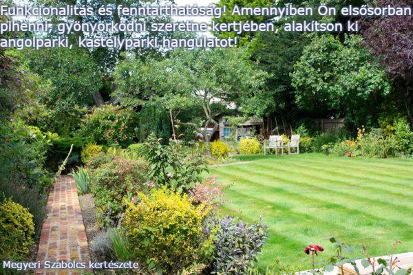 Kertépítés kerttervezés Megyeri kertészet